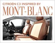 モンブランカラーのC3専用シートカバー、登場。『CITROËN C3 INSPIRED BY MONT-BLANC』