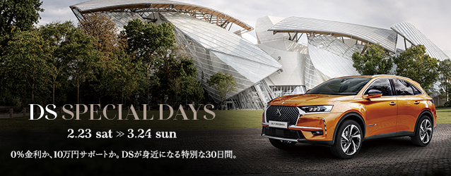 DS SPECIAL DAYS まもなく終了致します